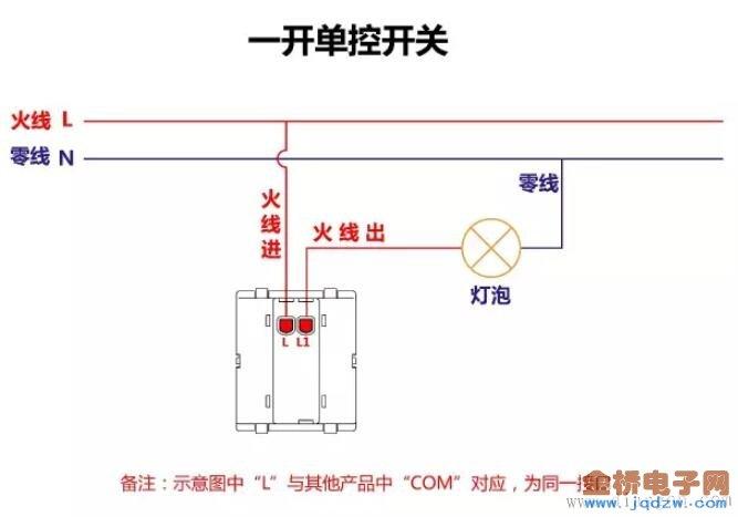 开关接线原理图_单控双控开关接线图_燃气热水器安装
